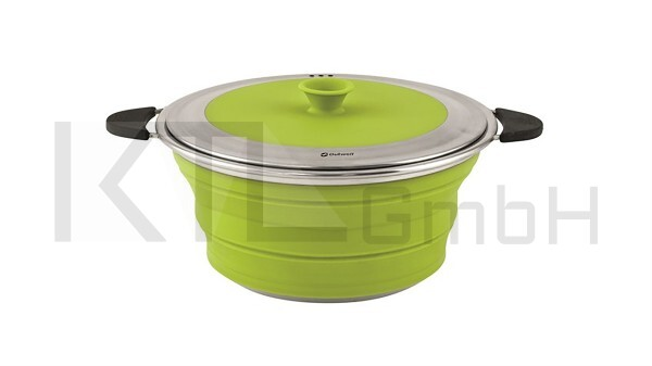 Outwell Collaps Topf mit Deckel 2,5L - lime green