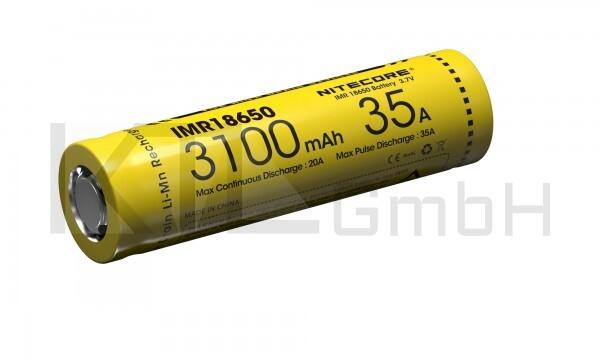 Nitecore 18650IMR Li-Ion Akku - 3100mAh/35A