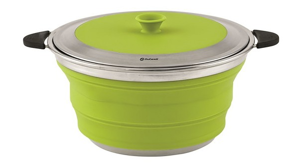 Outwell Collaps Topf mit Deckel 4,5L - lime green