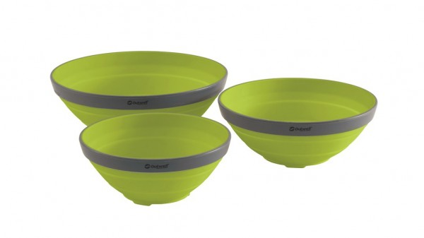 Outwell Collaps Bowl Set - lime green
