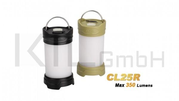 Fenix CL25R - Campinglaterne-schwarz