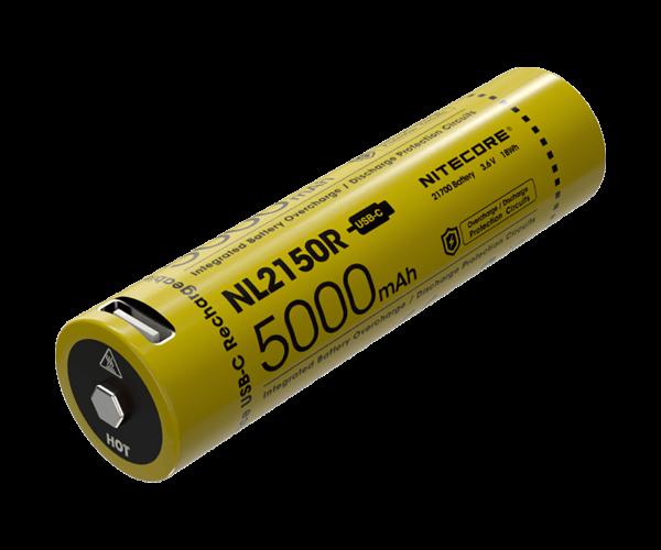 Nitecore Li-Ion Akku Typ 21700 - 5000mAh - NL2150R, USB