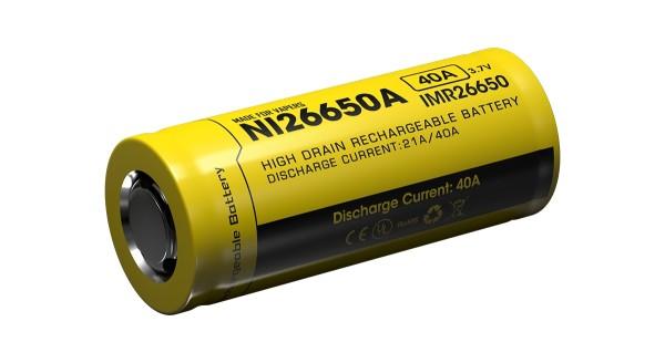 Nitecore 26650IMR Li-Ion Akku - 4200mAh/40A