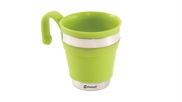 Outwell Collaps Mug - lime green