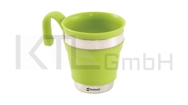 Outwell Collaps Mug - lime green